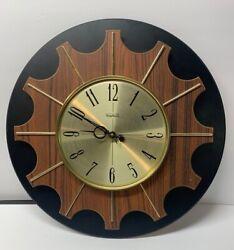Vintage Verichron Starburst Wall Clock Midcentury Modern