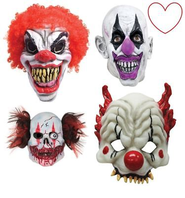 Scary Evil Clown Masks Wig Halloween Horror Latex Fancy Dress Costume](Mens Evil Clown Halloween Costumes)