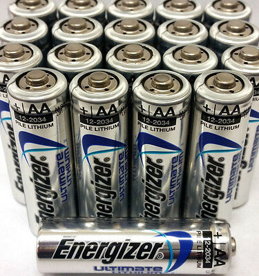 50 Pack Energizer Ultimate Lithium AA Batteries 2036