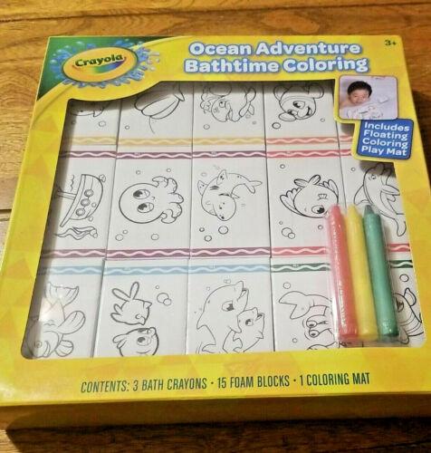 Crayola Dino Adventure and Ocean Adventure Bathtime Coloring NEW