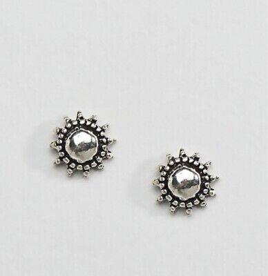 Kinsgley Ryan Sterling Silver Sun Stud Earrings