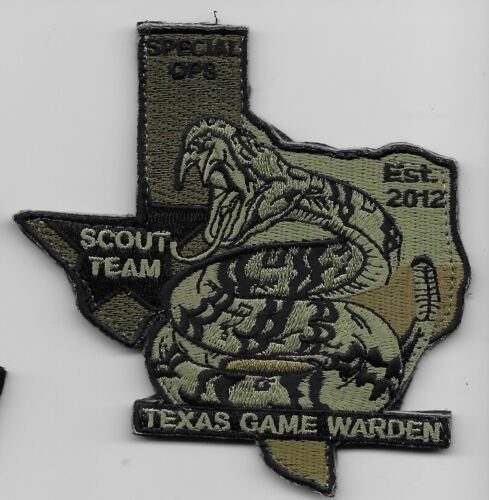 Subdued Rattle Snake Texas Game Warden Scout Team Special OPS Police State TX