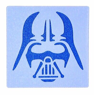 Darth Vader Design Tile Stencil 190 Micron Mylar Washable Reusable 15cm x 15cm ()