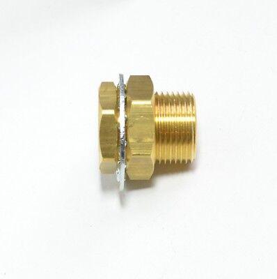 38 Npt X 1.25 Length Brass Bulkhead Terminal Bolt Air Brake Fasparts