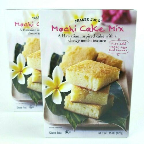 2x Trader Joe's Mochi Cake Mix Gluten Free Hawaiian Inspired Fast Free Shipping