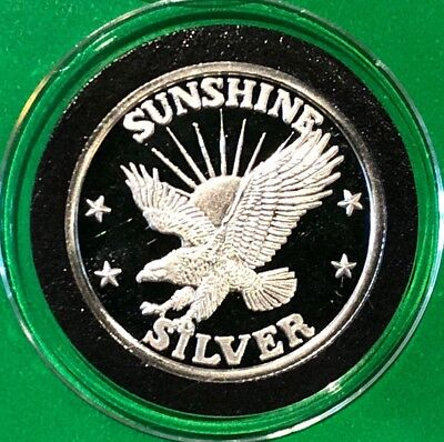 Sunshine Mining Eagle 1 4 Troy Oz  999 Fine Silver Round Proof Collectible Coin