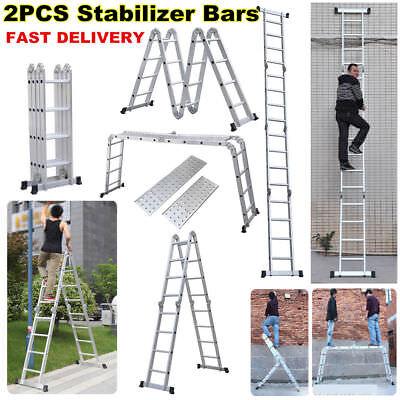 Keraiz® MultiFunction purpose 4.75M Aluminium Extension Ladder with 2 Platforms segunda mano  Embacar hacia Spain
