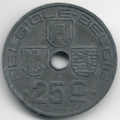 Belgium : 25 Centimes 1946 French - Dutch Legend