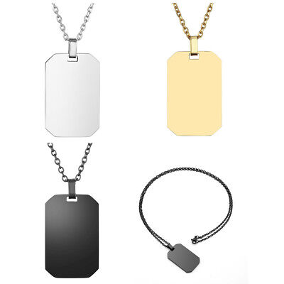 1 Pendant Dog Tag - 1/2pc Stainless Steel Cut Military Card Dog Tag Pendant Jewelry Without Chain