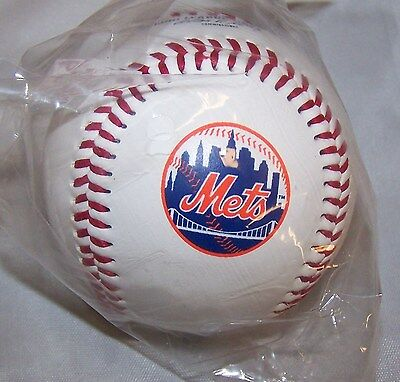 1 New York Mets Team Logo Ball MLB Baseball Rawlings ()