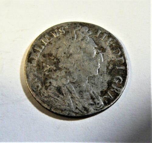 1697 Great Britain King William III Silver Six Pence SB1