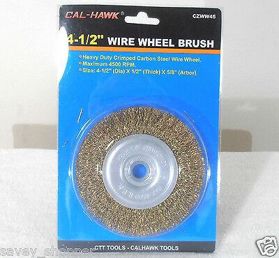 "4 1/2""  INCH x 5/8"" INCH ARBOR WIRE WHEEL BRUSH ANGLE GRINDER"