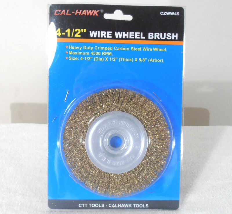 """4 1/2""""  INCH x 5/8"""" INCH ARBOR WIRE WHEEL BRUSH ANGLE GRINDER"""