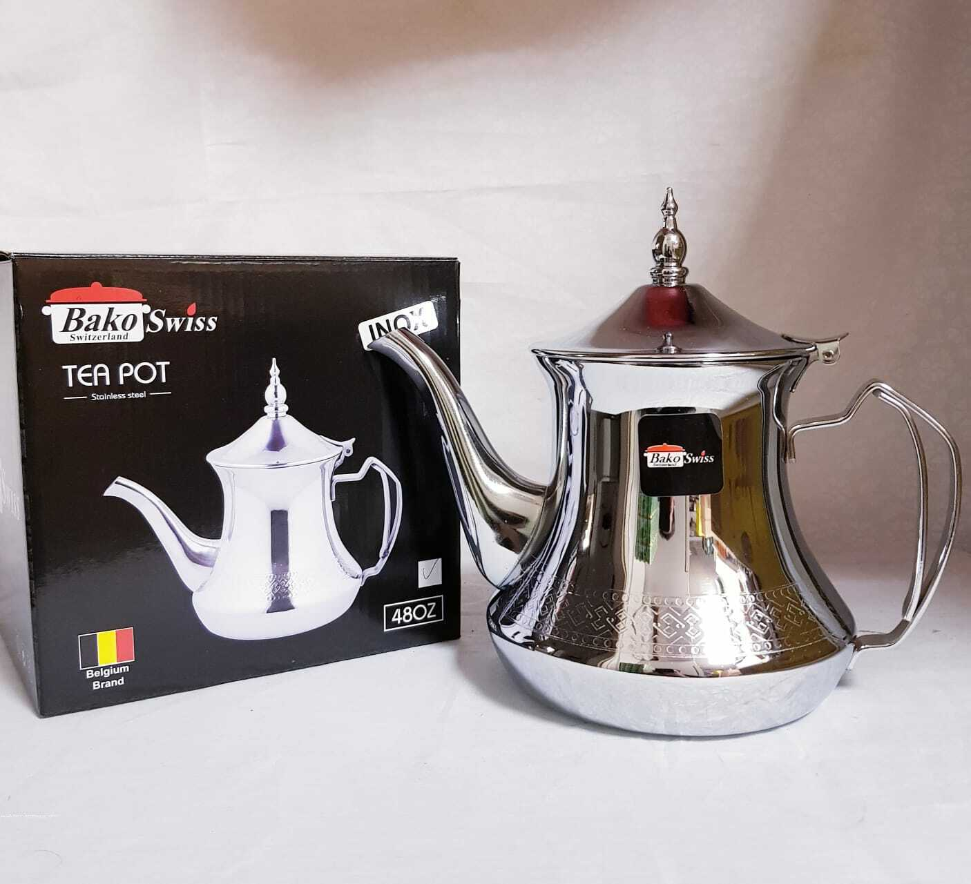 Orient Teekanne Marokkanische Kanne 1,2 L Marrakesch Style  Minztee  Minze Tee