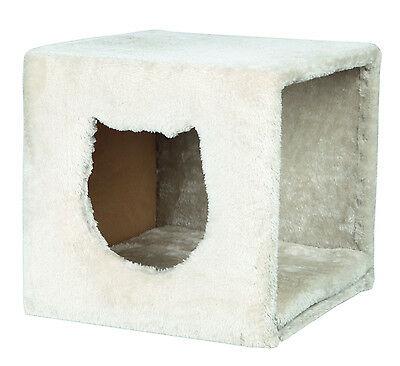 Regal Plüsch (Trixie Katzenhöhle Kuschelhöhle für Regal 37 × 33 × 33 cm, lichtgrau)