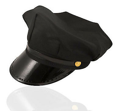 Cops And Robbers Fancy Dress (COPS AND ROBBERS CHAUFFEUR PEAKED LIMI DRIVER HAT CAP FANCY DRESS ACCESSORIES)