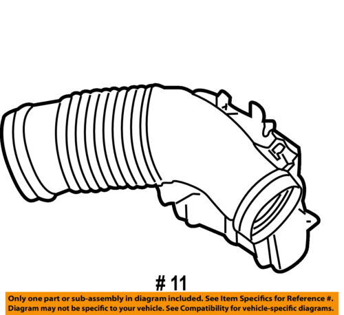 Genuine OEM 079-129-615 Air Cleaner Intake Hose Duct Tube 2005-2006 A6 Quattro