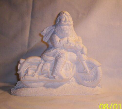 Bisque I*510a   -42.2028 Ceramic Ready to Paint Biker Santa