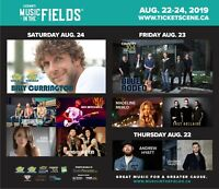 Lucknow Music in the Fields 2019 2 campsites side by side