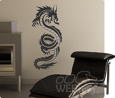 Dragon Drachen Wandtattoo Wandfolie Wandaufkleber Aufkleber Tattoo Tribal Wand 1 ()