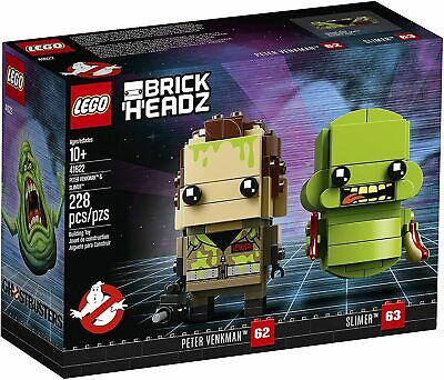 LEGO BrickHeadz #62/63 41622 Peter Venkman & Slimer (228 pieces) Ghostbusters