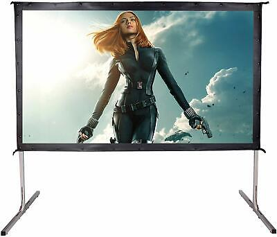 """120"""" 16:9 Fast Fold Projector Screen w/ Stand Garden Movie Projection HD Movie"""