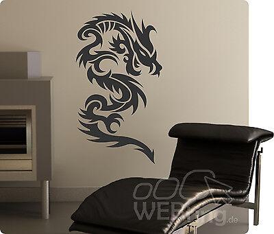 Dragon Drache Wandtattoo Wandfolie Wandaufkleber Aufkleber Tattoo Tribal Wand 12 ()