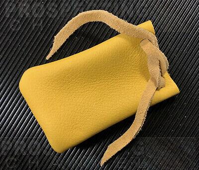4 Inch Quality Doe Skin Soft Leather Gold Nugget Storage Poke Pouch Draw String