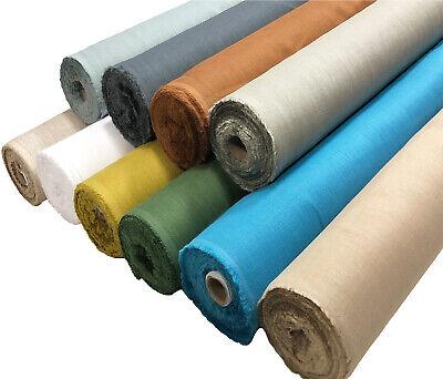 Vintage Flax Natural 100% Linen Fabric Material 140cm Wide per Metre Dress Bag
