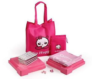 So Happy 144 Tile Chinese Pink Mahjong Set with Bag and Gaming Mat