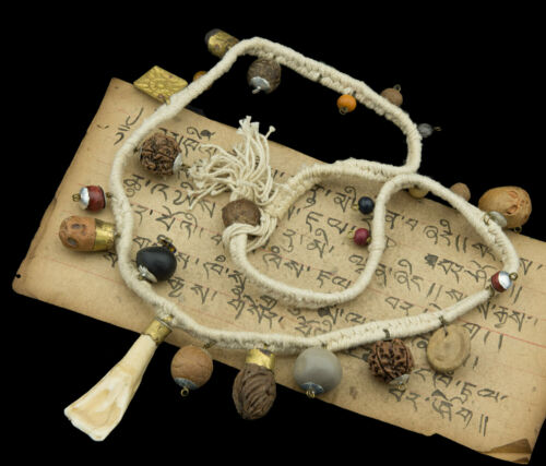 Necklace Mala Rosary Medicine For Shaman Buddhism Tbetain Tibet White 1920