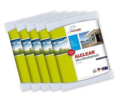 ALCLEAR® 5-er Set Ultra-Microfasertuch WUNDERTUCH weiß 60 x 45 cm 950002 Glas