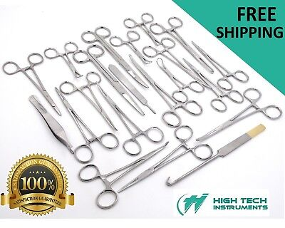 142 Pcs Caninefeline Spay Pack Veterinary Surgical Instruments