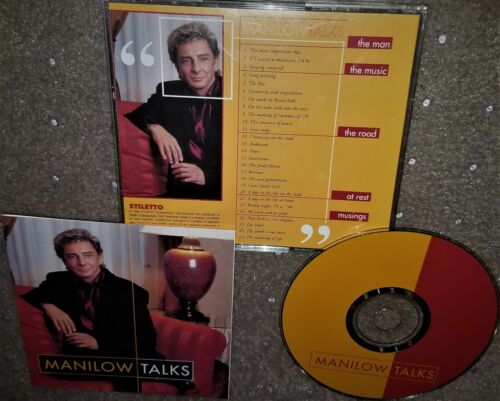 RARE Barry Manilow Talks! Interview Compilation CD MINT Fast Ship US Seller!