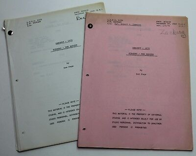 Dragnet 1967 / Don Page (2x) 1969 TV Scripts, Forgery: The Ranger