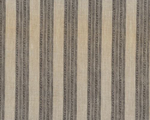 Antique 1860 Brown & Tan Stripe Wool Challis Fabric