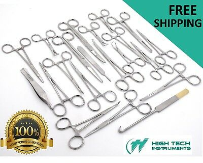 90 Pcs Caninefeline Spay Pack Veterinary Surgical Instruments