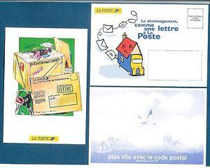 Ptt la poste 3 cartes changement d 39 adresse code postal for La poste changement adresse definitif