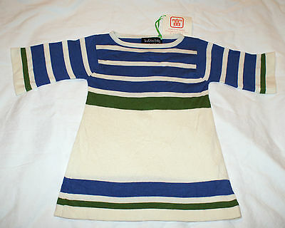 Designer Tfb Girls Kids Putting Dress White Green Blue & Black Green Blue