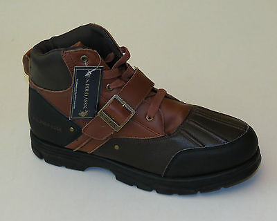 U.S. POLO ASSOCIATION Brown & Black Lace Up Hiking Shoe with Buckled Strap
