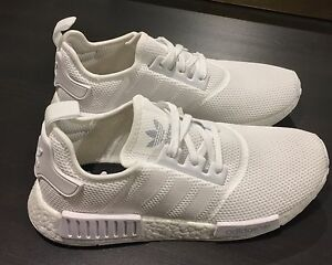 New Adidas NMD R1 Monochrome White US 9.5 / UK 9 S79166 Melbourne CBD Melbourne City Preview