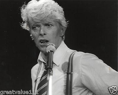 DAVID BOWIE PHOTO UNIQUE B&W 1983 UNRELEASED CLOSE UP IMAGE HUGE 12 INCH RARE