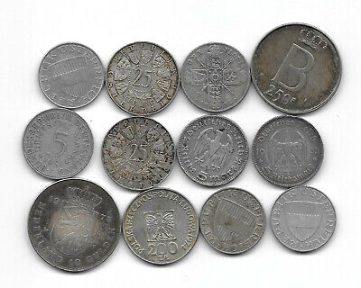 Lot of 12 silver coins mixed condition