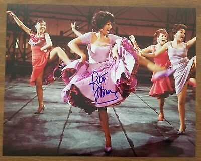 Rita Moreno Signed 16x20 Photo West Side Story Actress Electric Company EGOT RAD