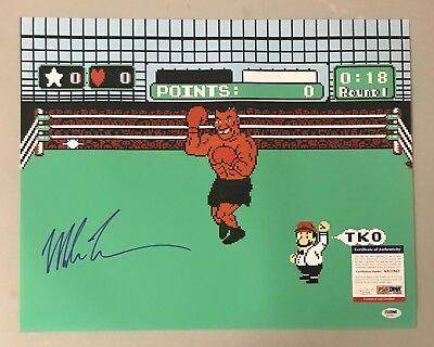 Mike Tyson Signed 16X20 Nintendo Punch Out Photo Psa Dna Coa Boxing Hof