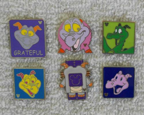 lot of 6 Disney FIGMENT Hidden Mickey Trader  Pins
