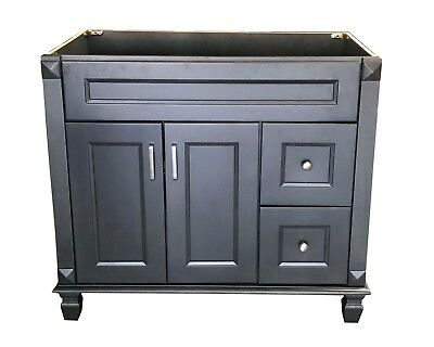 Metal Bathroom Cabinets (New Carbon Metallic Single Bathroom Vanity Base Cabinet 36