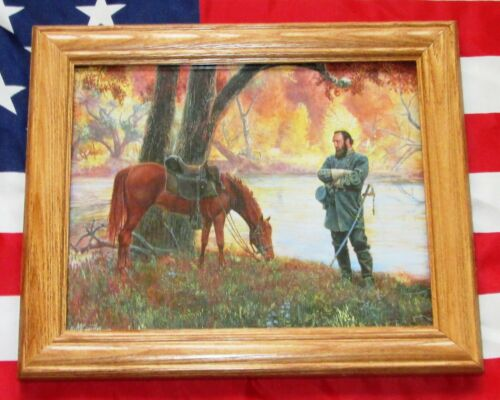 Framed Civil War Print. Mort Kunstler, Cross Over The River Stonewall Jackson