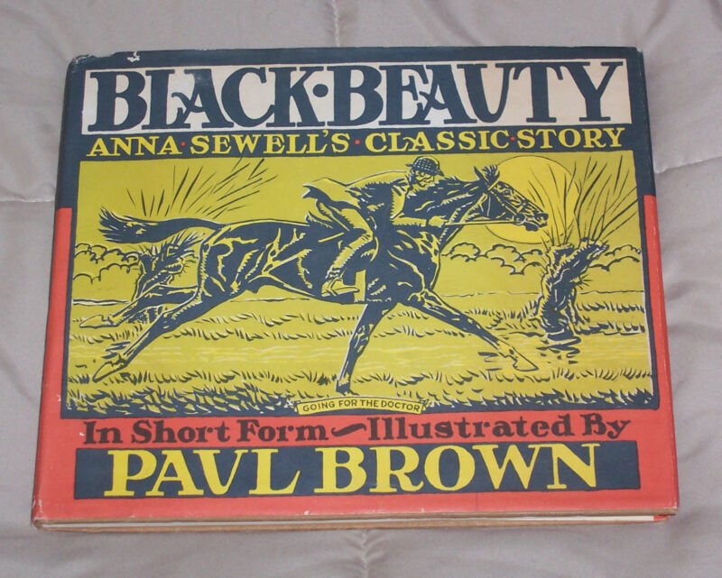 """* SIGNED with an ORIGINAL DRAWING * PAUL BROWN Horse ART Book BLACK BEAUTY """"A"""""""
