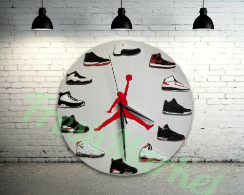 "New Handcrafted 12"" 2D Jordan Sneakers quartz clock nike supreme off white yeezy"